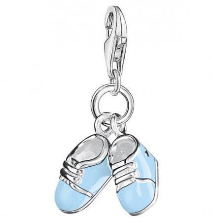 size 40 1db71 76539 THOMAS SABO Charm-Anhänger Blaue Babyschuhe 0822-007-1