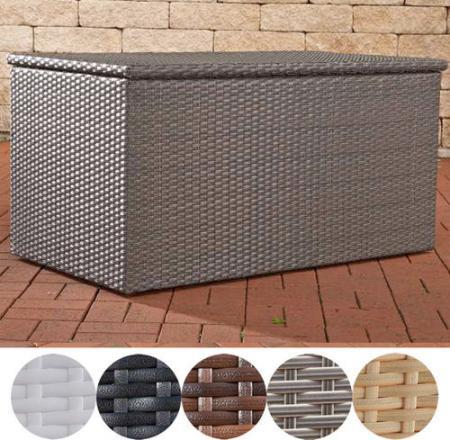 Clp Auflagenbox Kissenbox Xl Poly Rattan Alu Gestell Grau In