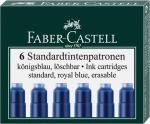 Faber-Castell 185506 Tintenpatronen Standard, königsblau, 6 Stück