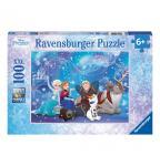 RAVENSBURGER 10911 Puzzle Disney Frozen Eiszauber 100 Teile XXL