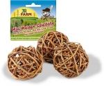 JR Mr. Woodfield Mini Weiden-Spielball 3 Stück 20g(UMPACKGROSSE 6)