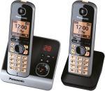 KX-TG6722GB Schnurlostelefon mit Anrufbeantworter schwarz