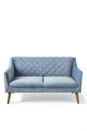 rivi ra maison contessa sofa 2 seater velvet ice blue in. Black Bedroom Furniture Sets. Home Design Ideas